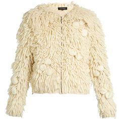 Tabula Rasa Mala hand-fringed alpaca-blend bomber jacket ($647) ❤ liked on Polyvore featuring outerwear, jackets, coats, coats & jackets, tops, cream, shrug cardigan, cream bomber jacket, cream shrug and shrug jacket