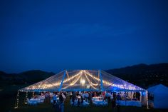 See the stars!  A clear top tent looks amazing at night! Image: @brintonstudios via @coweddingsmag