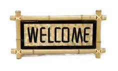 Bamboo - Welcome Garden Sign