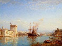 Félix Ziem (1821-1911) - Le port de Marseille.