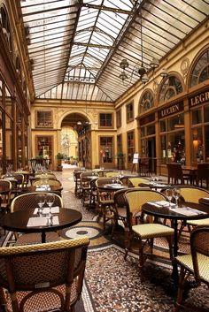 Bistrot Vivienne inside Galerie Vivienne, my favorite cafe in my old Paris neighborhood.