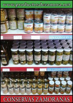 Conservas zamoranas, libres de conservantes químicos. Alimentación selecta zamorana.