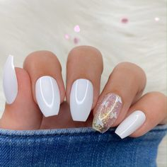 Acrylic Nails Coffin Short, Square Acrylic Nails, Simple Acrylic Nails, Cute Acrylic Nail Designs, Best Acrylic Nails, White Coffin Nails, Pastel Nails, Coffin Nail Designs, Matte White Nails