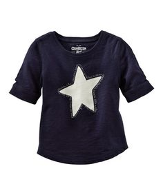 Look what I found on #zulily! Navy Star Tee - Toddler & Girls #zulilyfinds