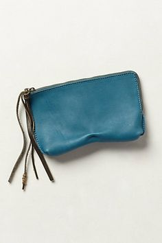 Pinched Leather Pouch #anthropologie