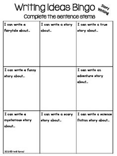 Writing Ideas Bingo - an idea trait activity! #traits $