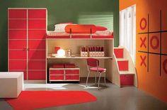 Dormitorios para Niños de Diseño Minimalista y Colorido por Arredissima : Casas Decoracion