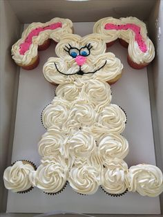 Bunny, Easter bunny pull apart cupcakes
