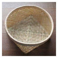国産 竹・四つ目洗いかご