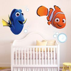 Finding Nemo - Nemo and Dory with bubbles - Decal