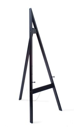 Wooden Display Easel with Height-Adjustable Pegs, 60 inches Tall - Black Display Easel, Wood Display, Floor Easel, Diy Easel, Stuffed Animal Storage, Art Stand, Standing Mirror, Tripod Lamp, Craft Storage