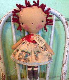 Raggedy Ann Annie Doll vintage raggedy ann by oldragdollcupboard