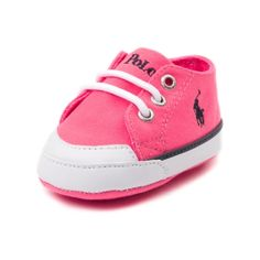 Shop for Crib Chandler Casual Shoe by Polo Ralph Lauren in Pink at Journeys Kidz. Shop today for the hottest brands in mens shoes and womens shoes at JourneysKidz.com.Sharp casual shoe made to comfort the tiniest of feet. Chandler from Polo Ralph Lauren featuring a canvas upper and soft slip-resistant outsole.