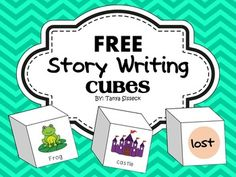 This is a great story writing activity! This set can be used as a center or for group lessons.   The story writing cubes enable students to roll for a character, a setting, and a problem. First, they record their answers on the writing paper. Then the students can use the information to create their own narrative story using the elements provided on the cubes.  The writing cubes give beginning writers the foundation they need to imagine and create amazing stories while enhancing their…