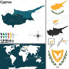 Buy Map of Northern Cyprus by on GraphicRiver. Vector map of Northern Cyprus with regions, coat of arms and location on world map. Package contains: EPS version.