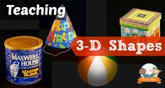 Teaching shapes cone, cube, cylinder and sphere in preschool and kindergarten with hands-on materials, activities and songs. 3d Shapes Kindergarten, Kindergarten Songs, Kindergarten Lesson Plans, Math Classroom, Teaching Math, Math Activities, Preschool Activities, Preschool Shapes, Maths