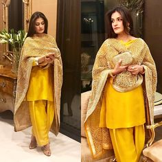 Our Muse on this early wedding season, Rabia ali dolled up in umer sohail's signature duppatta fully embellished with Gota work and contrasting it with a plain mustard short kurti shalawar.wedding goals 🙌 #umersohailofficial#pakistan#lahore#karachi#islamabad#gota#traditional#mustradlove#rabiali#fashion#east#desilook#elegance#perfection😍#potd📸#💯❗️