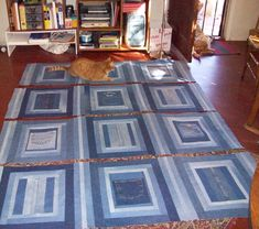 denim quilt - think of quilt as you go.
