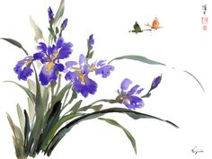 chinese painting images painted with bursh | ... & Birds Gallery: Chinese Brush Painting - Virginia Lloyd-Davies