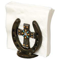 Horseshoe Cross Napkin Holder