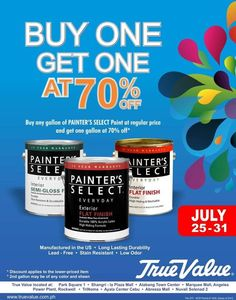 True Value Hardware: Buy 1 Take 1 on Painter's Select Paints