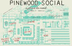 One of Nashville's newest hang outs - Pinewood Social! Grab some drinks and check out the bowling alley.