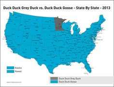 Here is a visual breakdown of this hostile divide.  It's duck, duck, GRAY DUCK!!!!!!!!  Get it right, peoples!