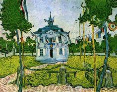 Reproducties - Vincent van Gogh > Auvers sur Oise 1890 > Auvers Town Hall on 14 July 1890 -.
