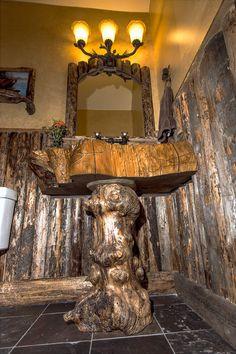 Beautiful Custom Bathroom Vanity, Sink Made By Rustique Furniture Rustic, Reclaimed  Www.rustiquefurniture.
