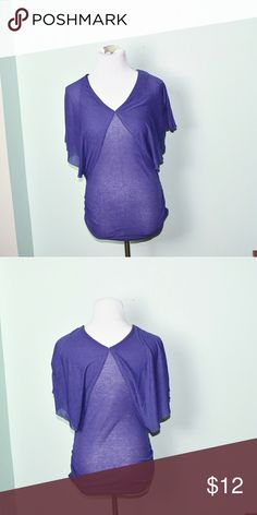 Beautiful Lavender Butterfly Sleeve Blouse In excellent condition! Very comfortable, lightweight, and flattering! Buy 3 items and get 1 free plus 15% off your purchase total! Tops