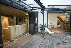 Méchant Design: open space in Barcelona Interior Exterior, Exterior Design, Rustic Country Furniture, Glass Wall Systems, Agi Architects, Country Interior Design, Modern Country Style, Garden Deco, Outside Living