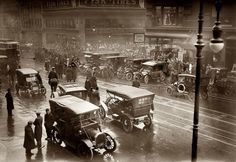 New York City in the rain - 1915