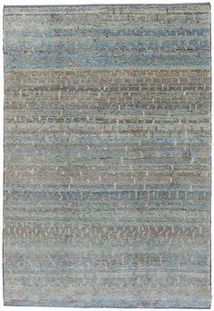 2156 Old Yarn Rug Blue Kazak 200×290 cm