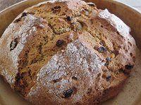 Whole Grain Sour Cream Irish Soda Bread with Orange Brandy Golden Raisins