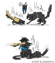 "|| Damian Wayne - Cat [ Robin/Redbird ] || Timothy ""Tim"" Jackson Drake-Wayne - Cat [ Robin/Red Robin ] || Richard ""Dick"" John Grayson - Cat [ Robin/Nightwing/Batman ]"