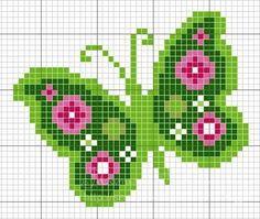 Tina's handicraft : 11 plans for cross stitch embroidery Butterfly Cross Stitch, Cross Stitch Bird, Cross Stitch Animals, Cross Stitch Flowers, Cross Stitch Charts, Cross Stitch Designs, Cross Stitching, Cross Stitch Embroidery, Embroidery Patterns