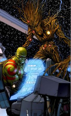 Drax and Groot by Steve McNiven