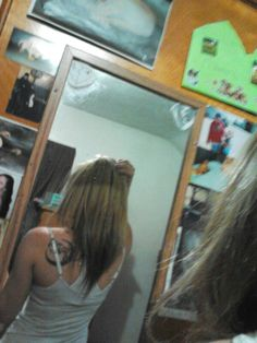 My reverse ombre hair right now<3