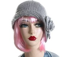 Items similar to Cloche Hat Knit Grey Peaky Blinders Flapper Vegan Hand Knitted Gatsby Charleston Mothers Day Gift on Etsy Aran Weight Yarn, Cloche Hats, Peaky Blinders, Gatsby, Charleston, Mother Day Gifts, 1930s, Knits, Hand Knitting