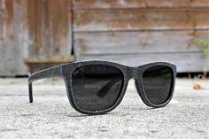 Paul Ven Fox Denim Wood Layered Wayfarer Sunglasses free uk