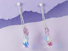 FREE Ideas : Artbeads.com - Wisteria Earrings.  These are posts I'd put them on ear wires.