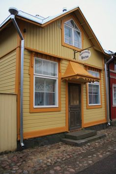 Naantali, old wood city in Finland..