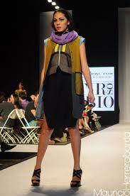 Runway look at Honduras fashion week.