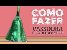 Como Fazer uma vassoura com garrafas PET / How to: Broom with plastic bo...