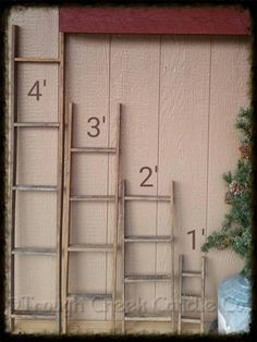 Our tobacco lath ladders are crafted from authentic Amish tobacco lath and available in many sizes.