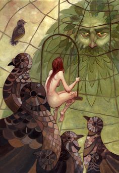 The Erl King by ~Biffno on deviantART (based on Angela Carter's short story)