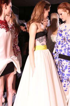 Backstage at Giambattista Valli Spring Couture 2014 [Photo by Delphine Achard]