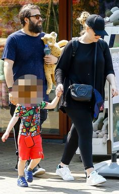 "Singer Adele and hubby Simon together with son Angelo visit the zoo in Amsterdam ""Artis"""