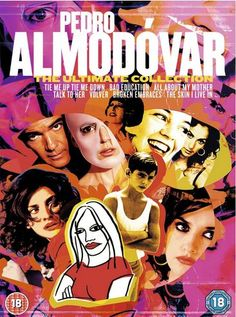 Pedro Almodóvar: The Ultimate Collection DVD. Seven film box set includes: Tie Me Up Tie Me Down, Bad Education, All About My Mother, Talk To Her, Volver, Broken Embraces, The Skin I Live In