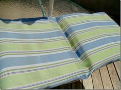 How To Do A Patio Cushion With The Top And Bottom As One Piece.